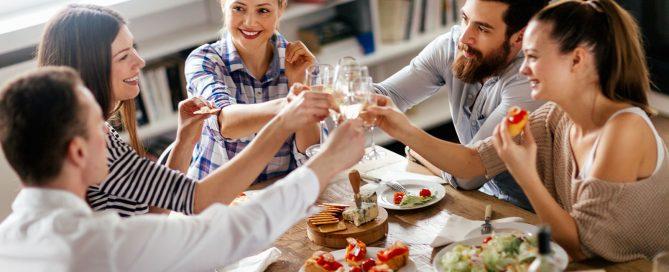 jantar com os amigos