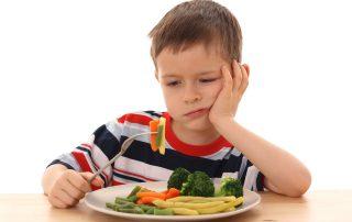meu filho não come