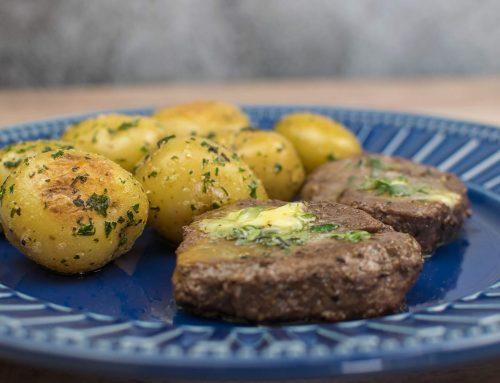 Mignon com Manteiga de Ervas com Batata Sauté